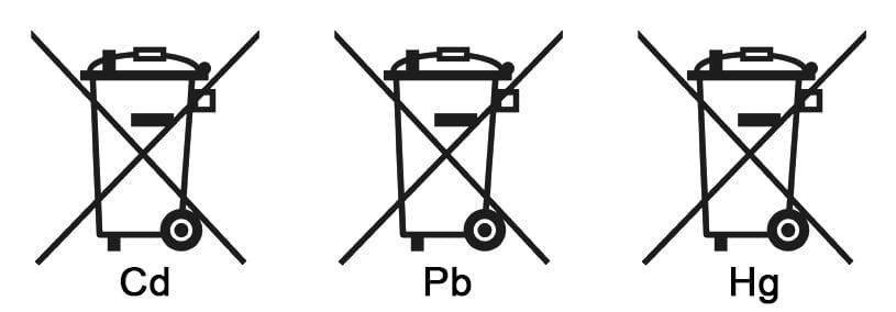Batterie entsorgung Symbol