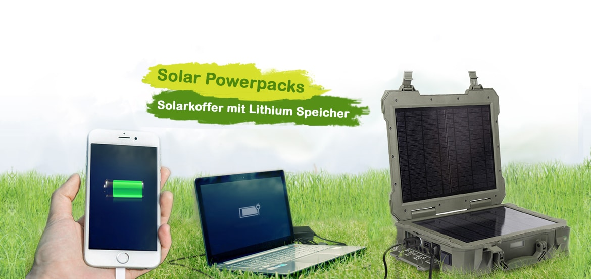 SolarPower Packs mit integrierten Lithium Batterien
