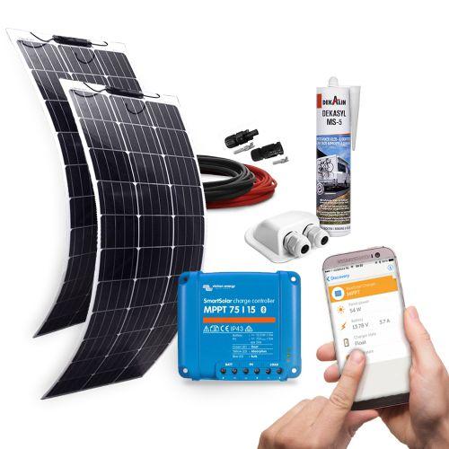 mobilpv 200wp flex solaranlage f r wohnmobile wohnwagen. Black Bedroom Furniture Sets. Home Design Ideas
