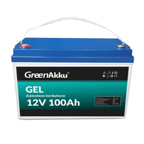GreenAkku Zyklenfeste GEL Batterie 12V 100Ah