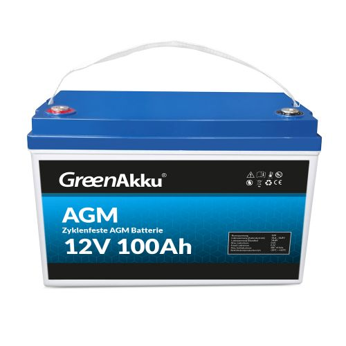 LIONTRON Zyklenfeste AGM Batterie 12V 100Ah