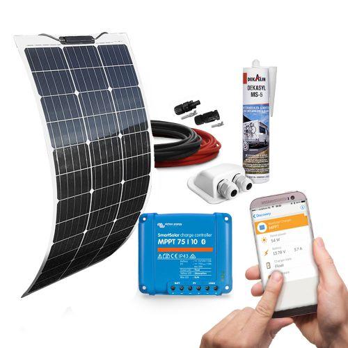 mobilPV 80Wp Flex Solaranlage für Wohnmobile / Wohnwagen / Boote