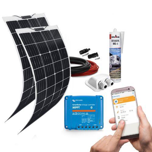 mobilPV 2x120Wp Flex Solaranlage für Wohnmobile / Wohnwagen / Boote