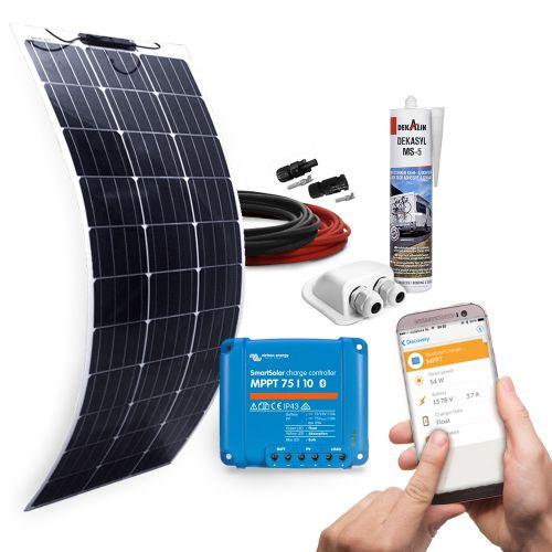 mobilPV 100Wp Flex Solaranlage für Wohnmobile / Wohnwagen / Boote