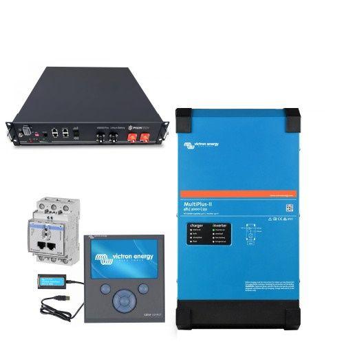 Victron Multiplus-II 48V 3kVA Speicherpaket 2,4kWh Pylontech LiFePO4 mit CCGX
