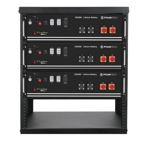 PylonTech LiFePo4 Speicher 48V 10,5 kWh mit Rack und Kabelset