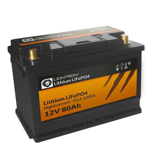 LIONTRON LiFePO4 12,8V 80Ah Hochstrom mit BMS