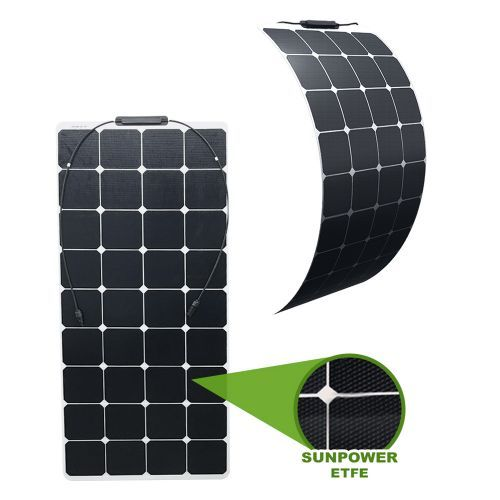 Semi-Flexibles Solarmodul SUNPOWER ETFE Monokristallin 120Wp