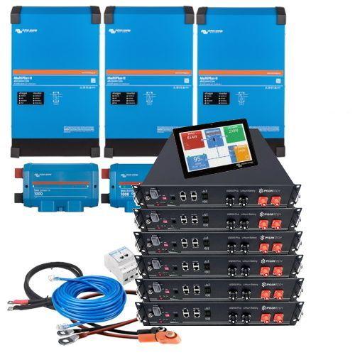 Victron Multiplus-II 48V 3-Phasen 9kVA Speicherpaket 14,4kWh Pylontech LiFePO4 mit Victron Cerbo