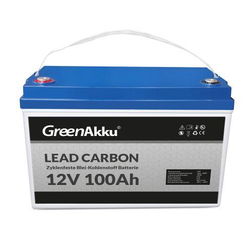 GreenAkku Zyklenfeste Lead-Carbon Batterie 12V 100Ah