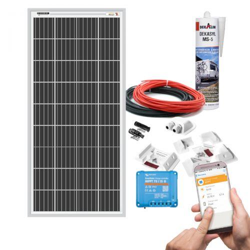 mobilPV 195Wp Verschattungsresistente Solaranlage für Wohnmobile / Wohnwagen / Boote