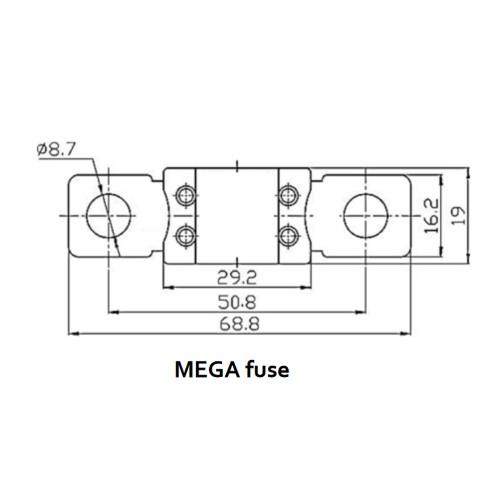 MEGA Sicherung 150A/32V (5 Stück)