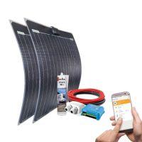 mobilPV 2x50Wp Flex Solaranlage für Wohnmobile / Wohnwagen / Boote