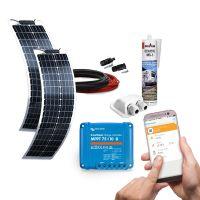 mobilPV 2x50Wp Flex LANG Solaranlage für Wohnmobile / Wohnwagen / Boote
