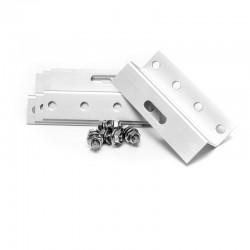 WATTSTUNDE Aluminium Z-Winkel 100mm inkl. Schrauben (4 Stk.)