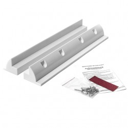WATTSTUNDE Haltespoiler Set 53cm Solarmodulhalterung ABS Kunststoff, weiß