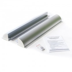 WATTSTUNDE Haltespoiler Set 55cm Solarmodulhalterung ALU, silber