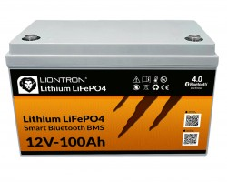 LIONTRON Smart BMS LiFePO4 Batterie 12V 100Ah mit Bluetooth Überwachung
