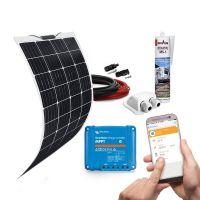 mobilPV 120Wp Flex Solaranlage für Wohnmobile / Wohnwagen / Boote