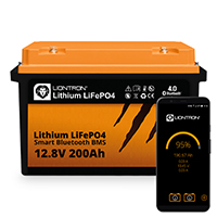 LIONTRON LiFePO4 12,8V 200Ah LX Smart BMS mit Bluetooth