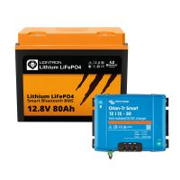 Booster Paket - LIONTRON LiFePO4 12,8V 80Ah + Victron Orion-Tr Smart 12/12-30A Ladebooster