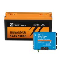 Booster Paket - LIONTRON LiFePO4 12,8V 100Ah + Victron Orion-Tr Smart 12/12-30A Ladebooster