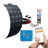 mobilPV 120Wp Flex Sunpower® Solaranlage für Wohnmobile / Wohnwagen / Boote