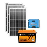 storePV 960Wp 12V mit 2,4kWh Lithium LiFePO4  Speicher