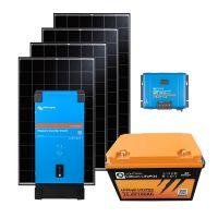 storePV 1280Wp 24V mit 2,4kWh Lithium LiFePO4  Speicher und Wechselrichter