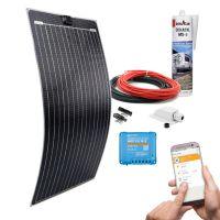 mobilPV Doppel ETFE 100Wp Solaranlage für Wohnmobile / Wohnwagen / Boote