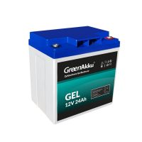 GreenAkku GEL Batterie 12V 24Ah