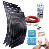mobilPV Doppel ETFE 460Wp Solaranlage für Wohnmobile / Wohnwagen / Boote