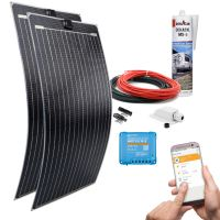 mobilPV Doppel ETFE 200Wp Solaranlage für Wohnmobile / Wohnwagen / Boote