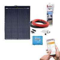 mobilPV Doppel ETFE 130Wp Solaranlage für Wohnmobile / Wohnwagen / Boote