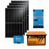 storePV 1320Wp 24V mit 2,4kWh Lithium LiFePO4  Speicher und MultiPlus II
