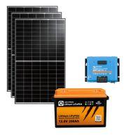 storePV 990Wp 12V mit 2,4kWh Lithium LiFePO4  Speicher