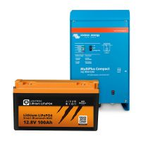 Paket LIONTRON LiFePO4 12,8V 100Ah + Victron Energy MultiPlus 12/1600