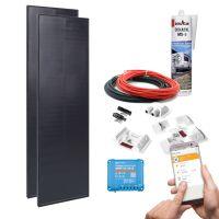 mobilPV 2x80Wp Solaranlage LightAir für Wohnmobile / Wohnwagen / Boote