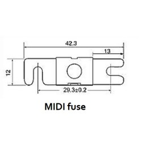 MIDI Sicherung 125A/32V (5 Stück)
