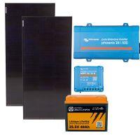 storePV 200Wp 24V mit 0,9kWh Lithium LiFePO4  Speicher und Wechselrichter