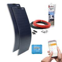 mobilPV 2x60Wp Flex Schindel Solaranlage für Wohnmobile / Wohnwagen / Boote
