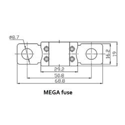MEGA Sicherung 250A/32V (5 Stück)