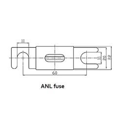 ANL Sicherung 500A/80V (1 Stück)