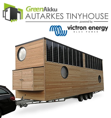 GreenAkku autarkes Tinyhouse powered by Victron Energy